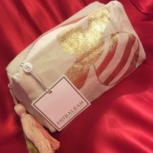 SHIRALEAH Bee Boxy Cosmetic Pouch. NEW!